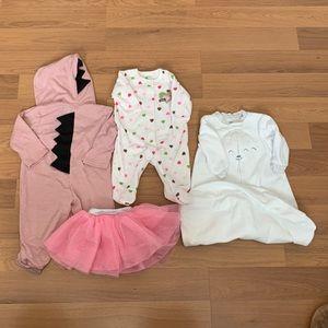 Size 3 mos 5 Piece Girl's Bundle